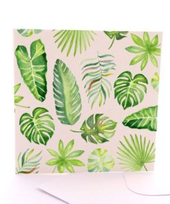 Recycled paper tropical card