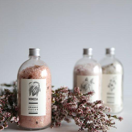 buy mimosa botanicals online bath salts geranium